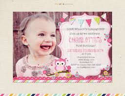look who u0027s turning one owl birthday invitation first
