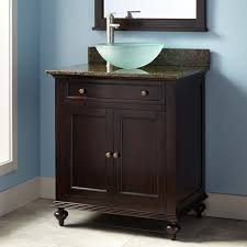 Black Bathroom Wall Cabinet by Dark Bathroom Vanity With Vessel Sink Vanity Dark Espresso Wood