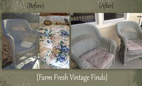Spray Paint Wicker Patio Furniture - spray annie sloan chalk paint farm fresh vintage finds