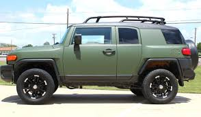 military land cruiser matte green vehicle wrap dallas zilla wraps