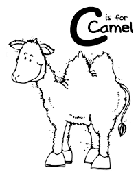 coloring pages alphabet c is for camel alphabet coloring pages