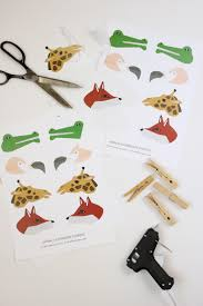 clothespin animal puppets free printable delia creates