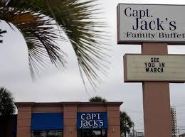 Capt Jacks Family Buffet Panama by Many Beach Restaurants Closed For Winter Business Panama City