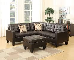 espresso bonded leather sofa sectional ottoman