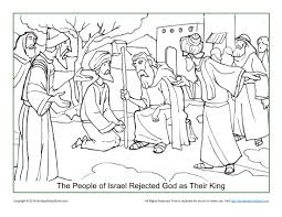 israel rejected god as their king coloring page children u0027s bible