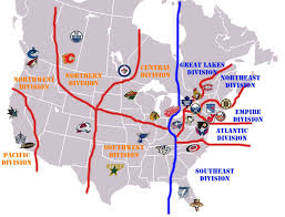 Nhl Map Nhl Alignment Map Cropped Divisions Seattle Photo Shared By Lucius