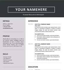 resume template word 12 professional resume templates in word format xdesigns