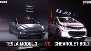 awesome tesla model 3 vs chevy bolt pic interior youtube