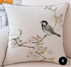 bird flower throw pillows shabby chic sofa cushions for grey sofa