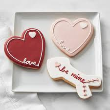 valentines day cookies s day cookies set of 3 williams sonoma