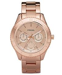 rose tone stainless steel bracelet images Fossil watch women 39 s stella rose gold tone stainless steel jpg