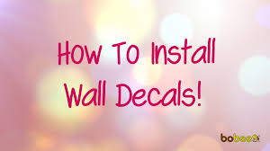 how to install wall decals youtube how to install wall decals