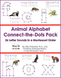 animal alphabet connect the dots pack u2013 living montessori now