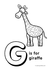 letter coloring pages letter giraffe coloring kids