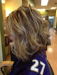 long bob hairstyles with low lights inverted long bob brown lowlights and blonde highlights styled