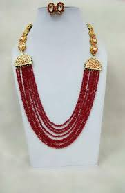 red crystal beads necklace images Blue green crystal beads kundan necklace set buy latest jpg