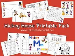 free mickey mouse friends printables tots preschoolers