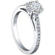 milgrain engagement ring jeff cooper channel set milgrain engagement ring h l