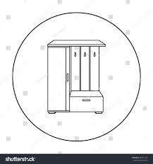 vestibule wardrobe icon outline style isolated stock vector