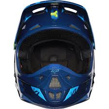 blue motocross helmets fox racing 2016 v1 race helmet blue yellow available at motocross