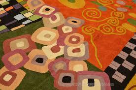 Modern Wool Rugs Klimt 5ft X 7ft Green Nouveau Wool Rug Tapestry