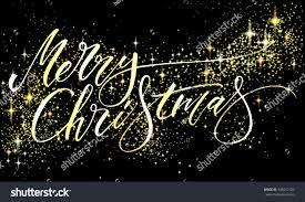 merry christmas modern merry christmas background modern calligraphy glitter stock vector