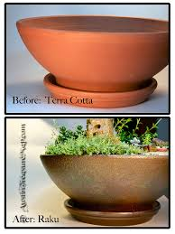 terracotta paint color refinished pot turned terra cotta into a raku look finis u2026 flickr