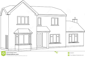 drawing a house house stock vector illustration of contemporary house 20409257