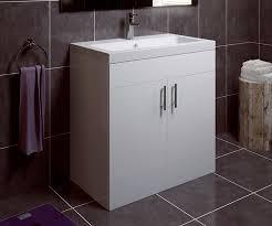 Free Standing Vanity Units Bathroom Thorpe White 800 Extra Depth Freestanding Vanity Unit With Sink