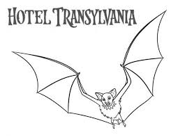 coloring page of a bat bats from hotel transylvania movie coloring pages bulk color