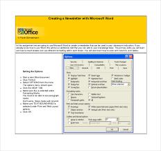 8 microsoft newsletter templates u2013 free sample example format