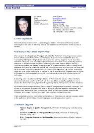 Resume Format For Freshers Bca Resume Samples For Freshers In Mca