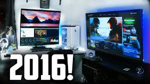 Bedroom Setup With Tv My 2016 Ultimate Gaming Setup Room Tour Youtube
