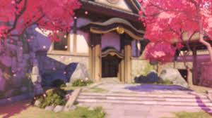Cherry Blossom Map Download Hd Overwatch Game Map Blizzard Entertainment Pink