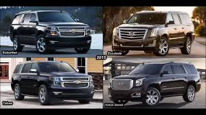 chevy suburban great car 2017 cadillac escalade vs chevy suburban vs gmc