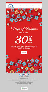 merry email template gifts for everyone for furniture