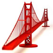 golden gate bridge paper model kit with pre cut details 46