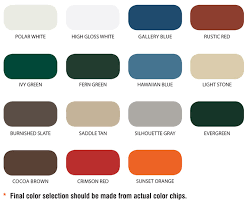 color selection color selection panel profiles for metal steel buildings