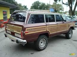 1988 jeep wagoneer 1988 grenadine metallic jeep grand wagoneer 4x4 17411643 photo 9
