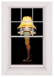 window clings halloween leg lamp window cling