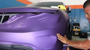purple jeep cherokee matte purple vinyl car wrap 2014 jeep grand cherokee bumper