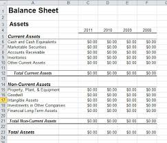 Excel Balance Sheet Template by Balance Sheet Template In Excel