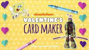 spongebob valentines day cards spongebob squarepants valentines day card maker nickelodeon