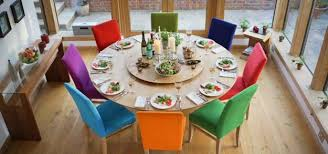 Colored Dining Room Chairs Beauteous 40 Colorful Dining Room Tables Design Decoration Of