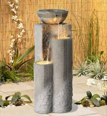 Lighted Water Fountains Outdoor by Amazon Com Faux Marble Bowl U0026 Pillar 34 1 2
