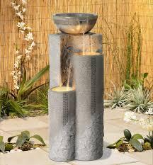 Water Fountain Home Decor Amazon Com Faux Marble Bowl U0026 Pillar 34 1 2