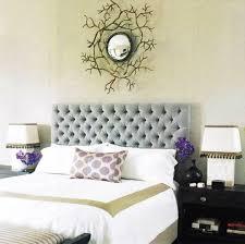good looking bedroom design and decoration using cream velvet