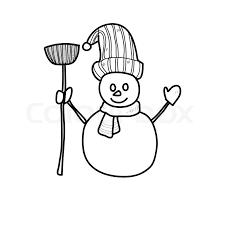 hand drawing cartoon character christmas santa claus stock