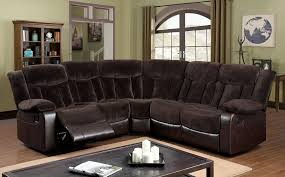 3 piece recliner sofa set hshire chion brown fabric leatherette sectional w 2 end