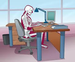 Computer Desk Posture Skeleton Posture At The Computer Stock Illustration Image 27652001